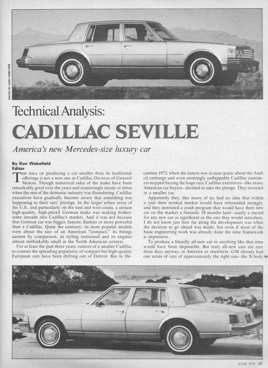 Vintage R&T: 1976 Cadillac Seville Preview, Technical Analysis and ...