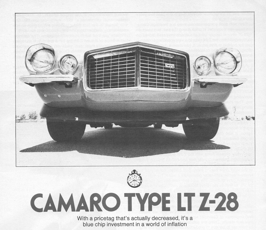 Vintage C&D Review: 1973 Camaro Type LT Z-28: Cheaper Than the ...