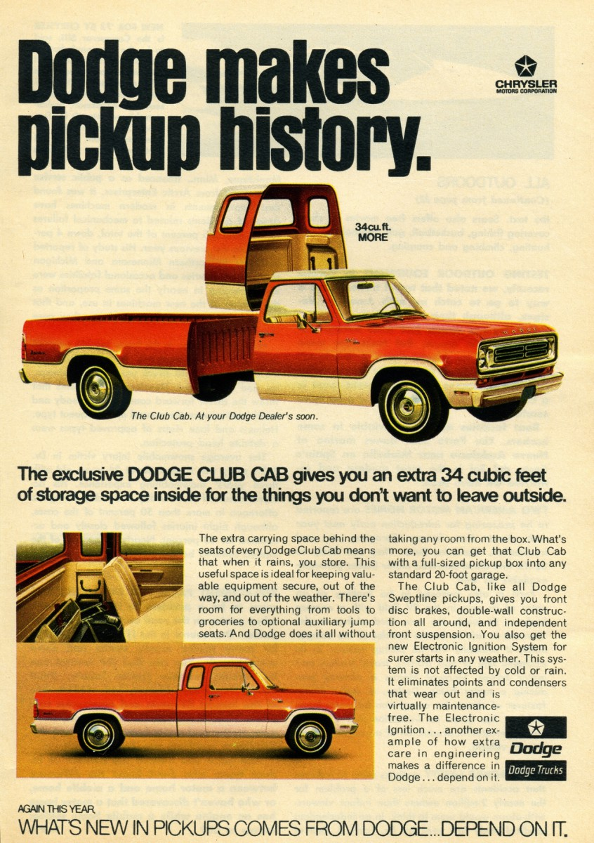 It s hard to imagine a world where not almost every pickup on the road has some kind of extended cab yes there were some double cabs available back in the