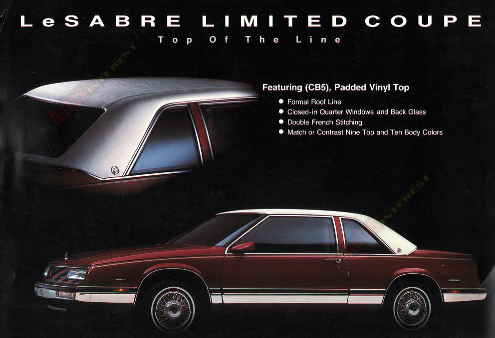 Buick Lesabre Limited Coupe Flier F on 1987 Buick Lesabre Limited Coupe