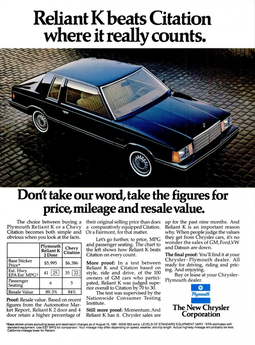 Initially 2-doors accounted for about one-fifth of total Aries and Reliant sales. However in the late 1980s that number trailed off rapidly ...  sc 1 st  Curbside Classic & CC Capsule: 1989 Plymouth Reliant America 2-Door u2013 Staring Down ... pezcame.com