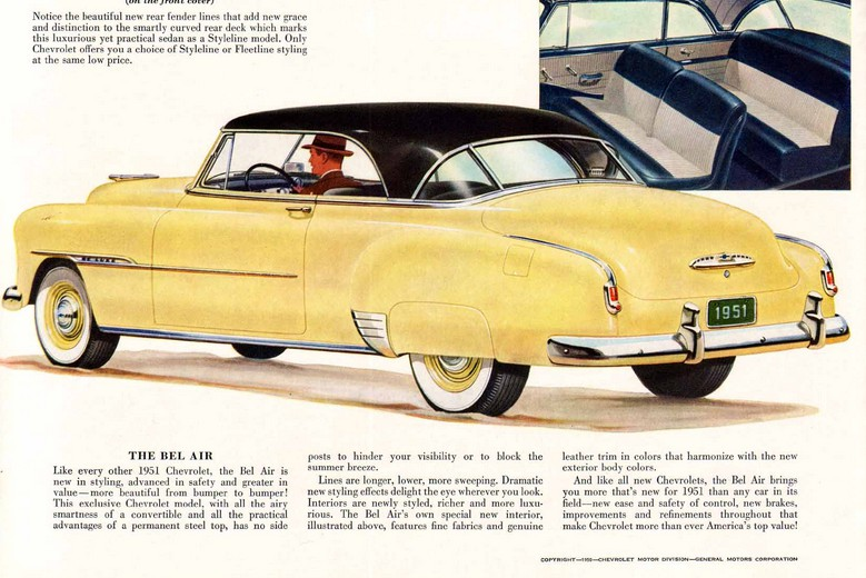 Although Its Not Exactly Used In The Bel Air Brochure But These Early Hardtops Were Often Called Hardtop Convertibles Which May Sound Like A Misnomer