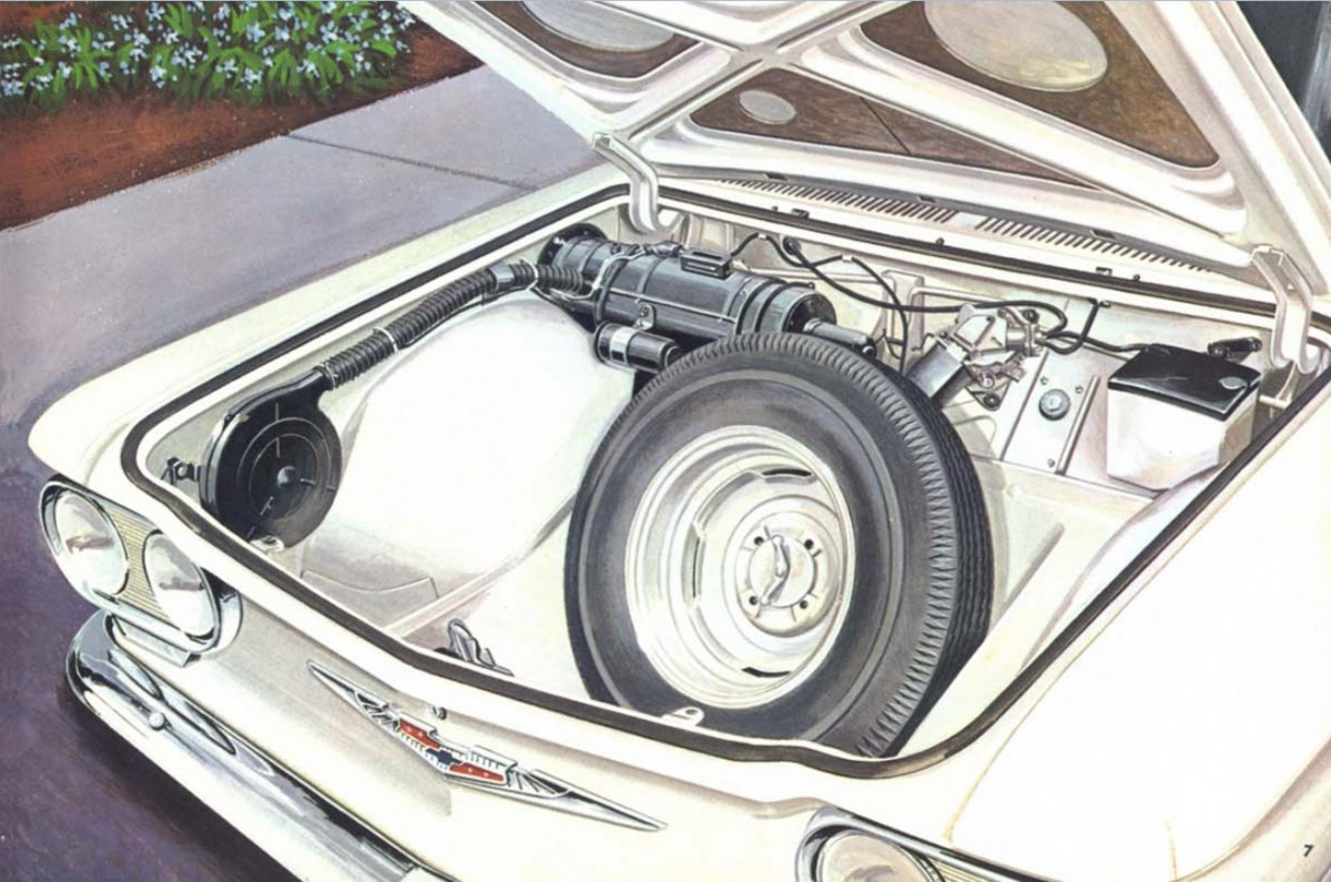 Automotive History Corvair Warm Comfort Heating Optional 1960 Windshield Wiper Circuit Diagram For The Chevrolet Passenger Car In Typical Cole Engineering Heavy Approach Corvairs Trunk Mounted Gas Heater Worked Great A Similar System Was On Vws And Not Uncommon