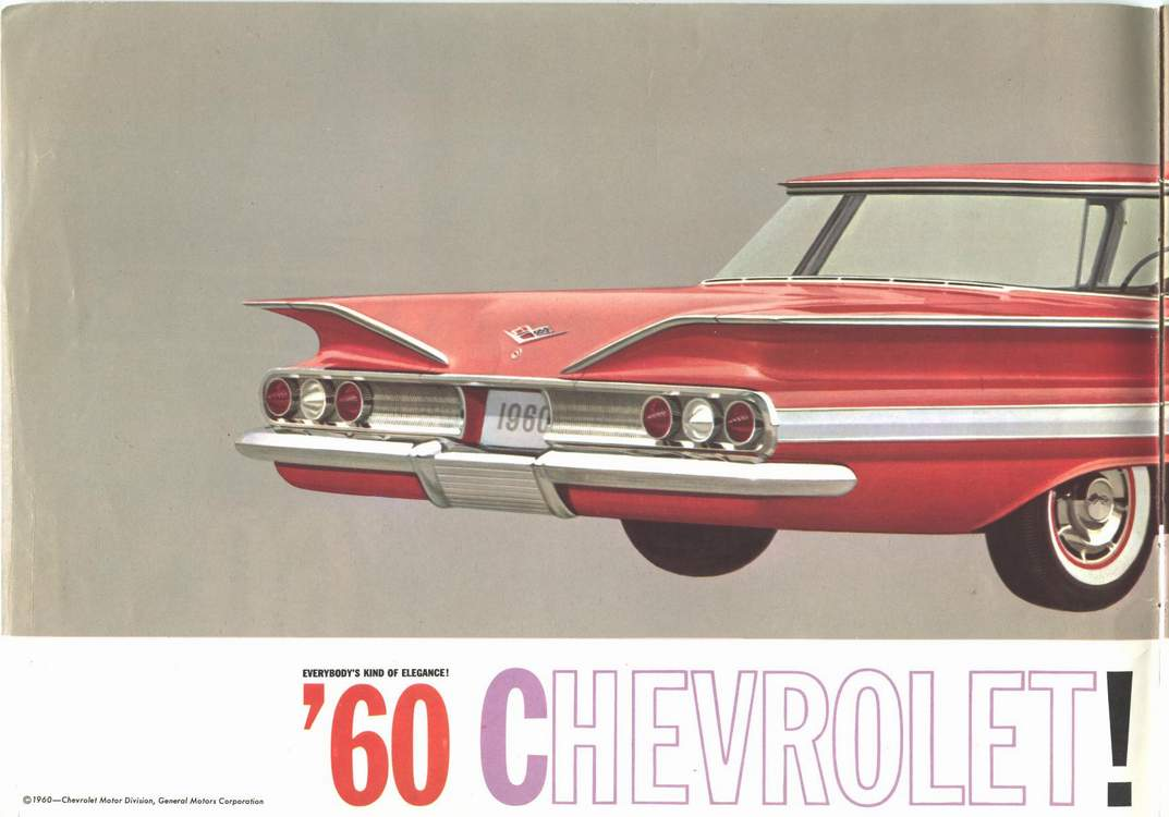 In 1960 chevrolet would correct this error with the reintroduction of the of the round tail