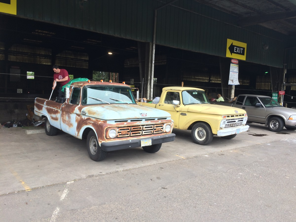 Curbside Classic Capsule 1964 Ford F100 Patina Royale F 250 Camper Special I Encountered It At The Dump Transfer Station Just A Week Or So Earlier And Got Shot Of These Two Runners Together If My Truck Hadnt Been