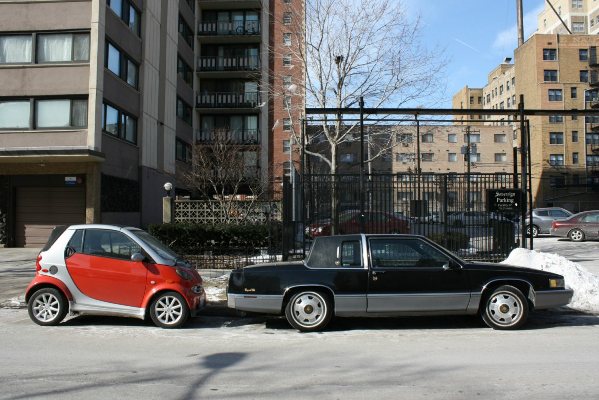 Wordless Outtake 2008 Smart ForTwo \u0026 1991 Cadillac Coupe DeVille \u2013 Two Doors Four Wheels\u2026 & Wordless Outtake: 2008 Smart ForTwo \u0026 1991 Cadillac Coupe DeVille ...