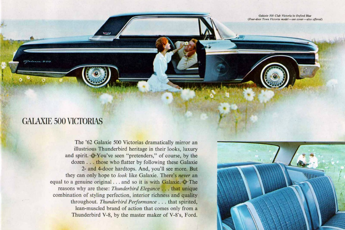 Much like concurrent popular music tastes for many continued to evolve from vocal pop standards to more youthful rock- and Motown-oriented sounds (among ... & In-Motion Classic: 1962 Ford Galaxie 500 Club Victoria u2013 Top Hat markmcfarlin.com