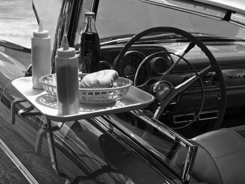 Image result for drive in restaurants 1950s