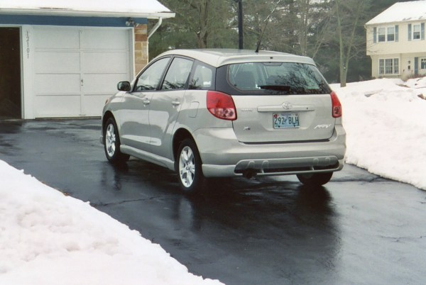 2003 Toyota Matrix XR Rear View