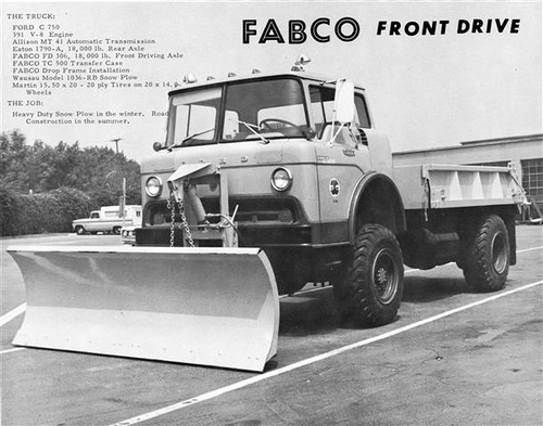 Fabco 4x4 Snow Plow Conversion, using Ford C-Series Cabover from the Late 1960's, and a step-frame