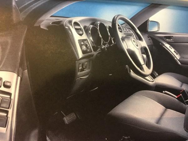 Driver interior of Toyota Matrix
