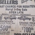 How does a brand new 1981 Pontiac Phoenix strike you?  Bob Sellers has 26 in stock, $500 off! No?  How about a brand new 1981 Pontiac Grand Prix?  82 […]