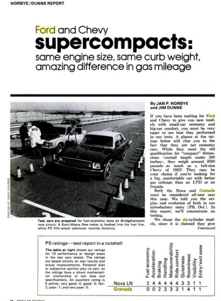 automotive history vintage review 1975 ford granada wins the most