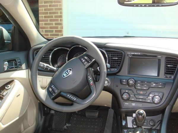 Dash of 2011 Kia Optima for driver