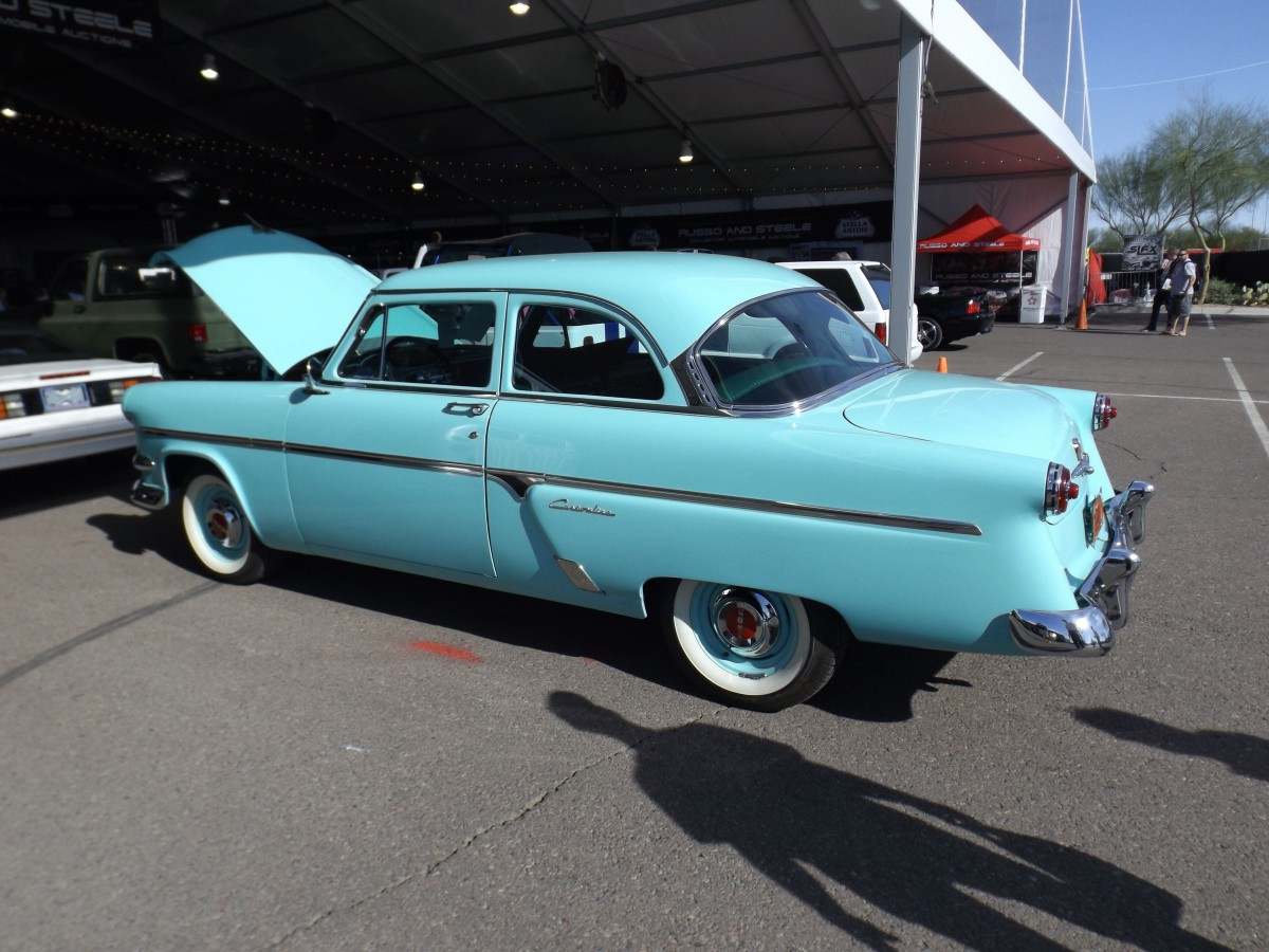 Auction Classic Fords In Scottsdale 2018 1954 Ford Thunderbird Convertible One Of The First Cars I Saw On Attended Was This Customline 2 Door Sedan At Russo And Steele Walking From Entrance To