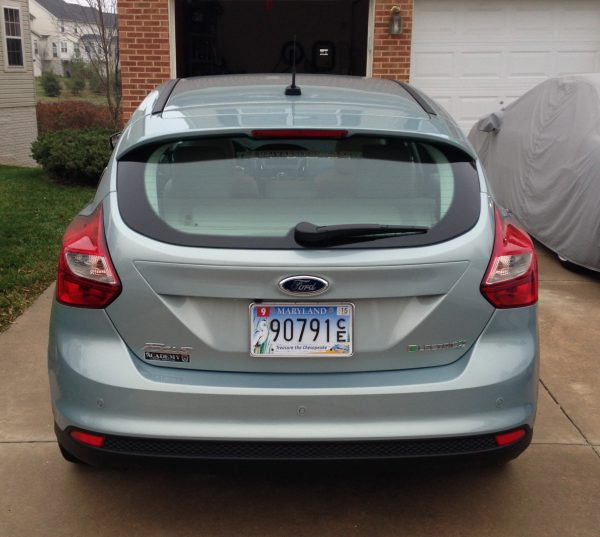 2013 Ford Focus Electric rear end view