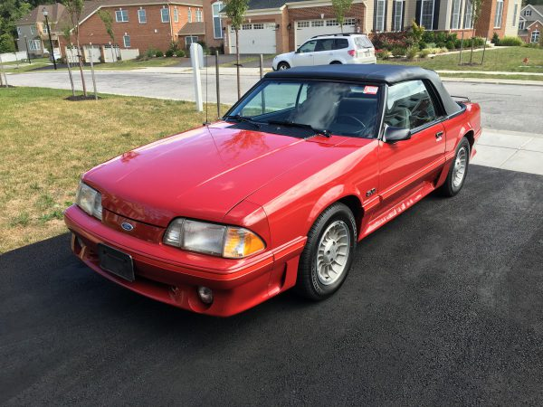 1987 Mustang GT Front View