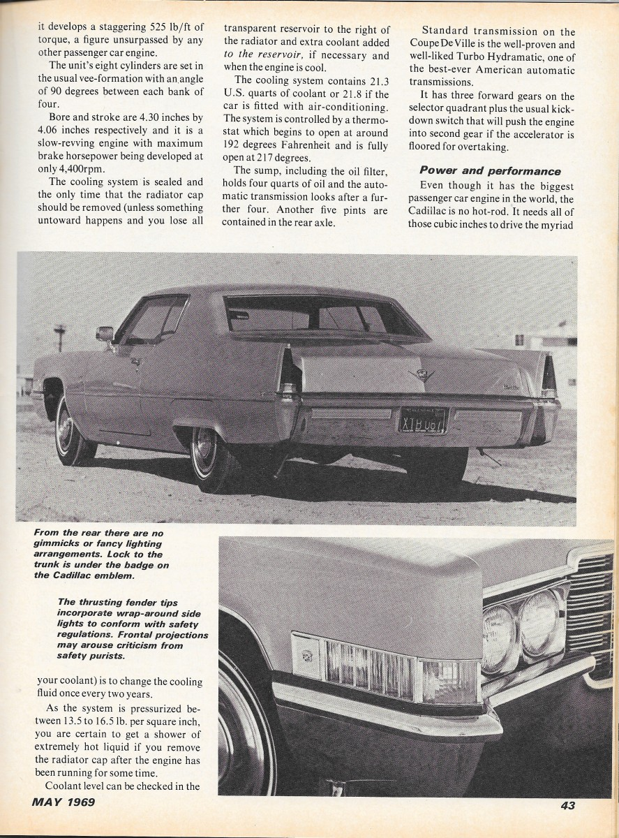 Vintage review 1969 cadillac coupe deville golden goose