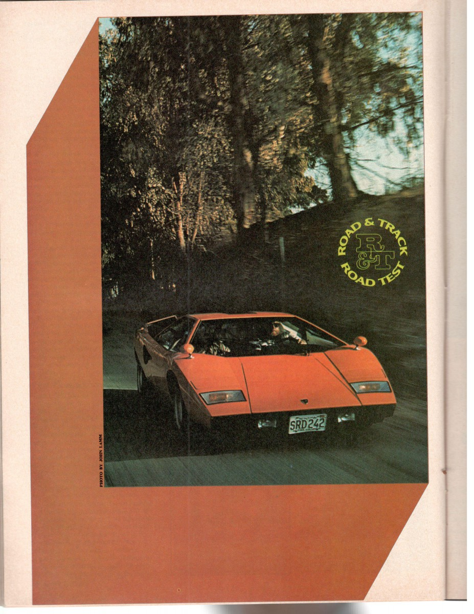 Road Track Vintage Road Test 1976 Lamborghini Countach Fastest