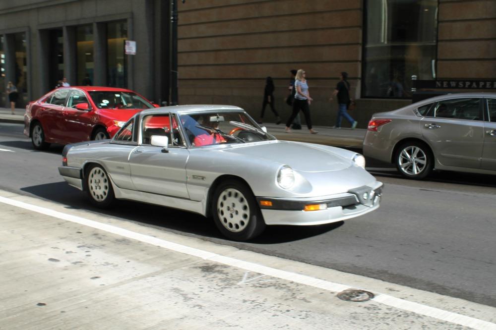 In Motion Classic 1986 Alfa Romeo Spider Quadrifoglio Verde Alfa Bits Curbside Classic