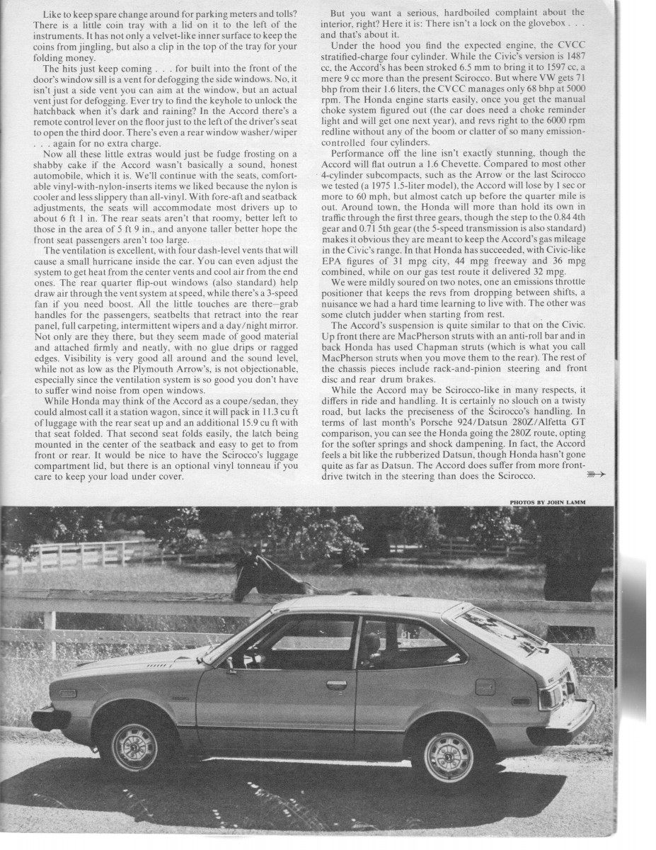 Honda Accord: Track Scan