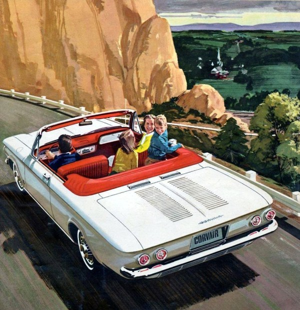 1963 corvair ad for General motors retiree death benefits