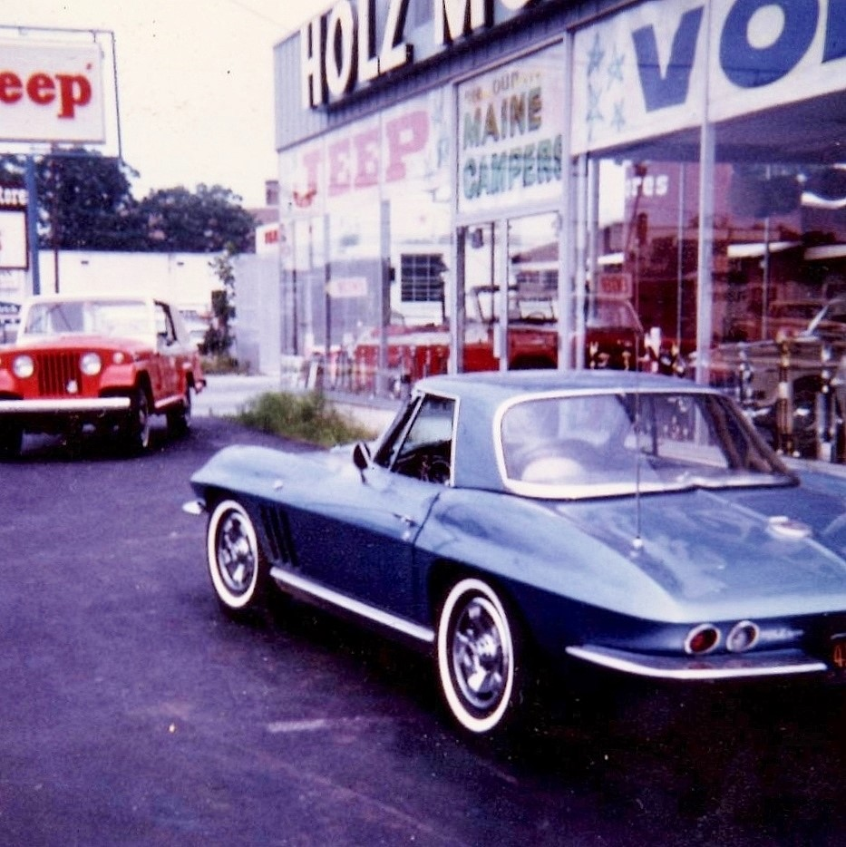 Holz Motors carried Jeeps and Volvos and in 1963 built this beautiful new showroom in Patchogue, NY.
