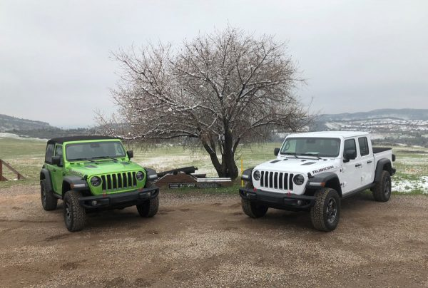2020 Gladiator and 2019 Wrangler