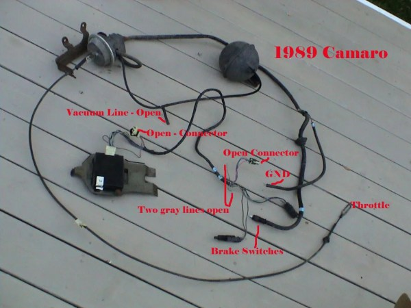 A salvaged Cruise Control System, mostly ready to plug and ...
