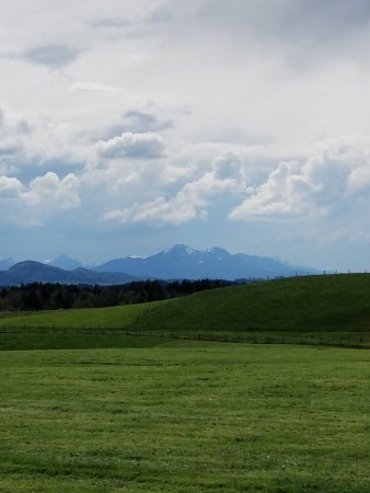 The Bavarian Alps from far away