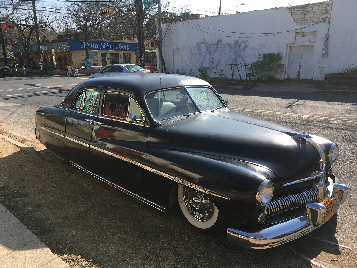 Roadhouse Relic 1951 Mercury Eight Sends Greetings From Austin Curbside Classic