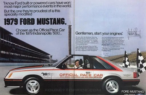 1979 Ford Mustang Indy pace car, Jackie Stewart
