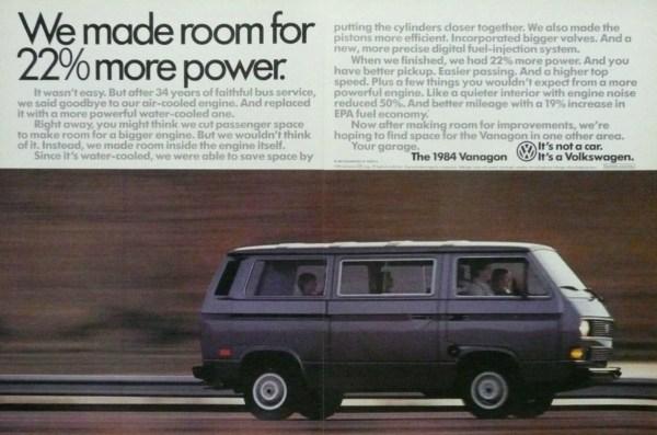 1984 Volkswagen Vanagon print ad