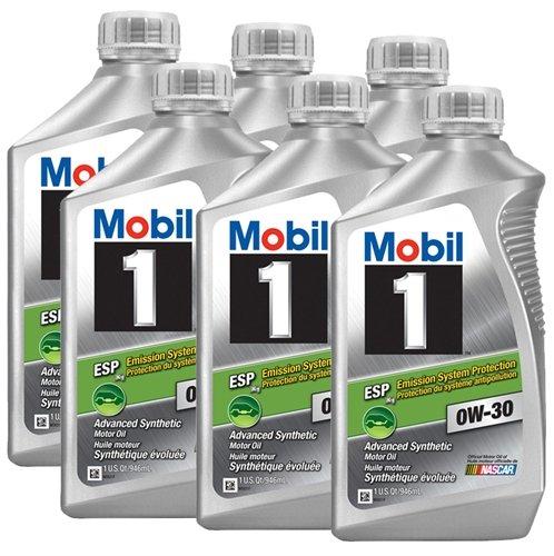Mobil 1 0w30 motor oil bottles