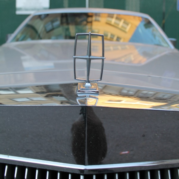 1977 Lincoln Continental Town Coupe hood emblem, revised square crop
