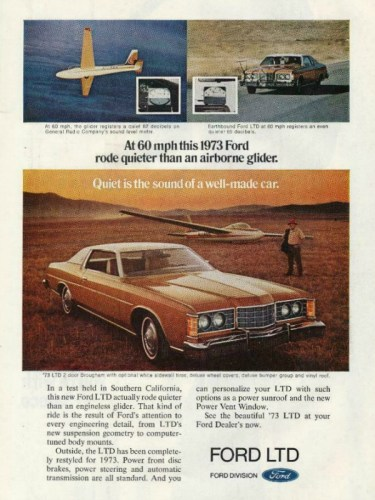 1973 Ford LTD print ad