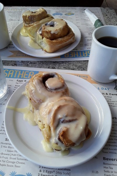 The cinnamon rolls at Ann Sather. Edgewater, Chicago, Illinois. Sunday, February 22, 2020.