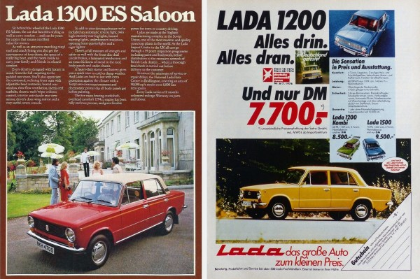 Lada Ads UK and West Germany
