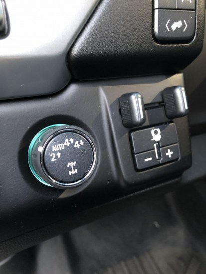 a 4WD switch on a Suburban