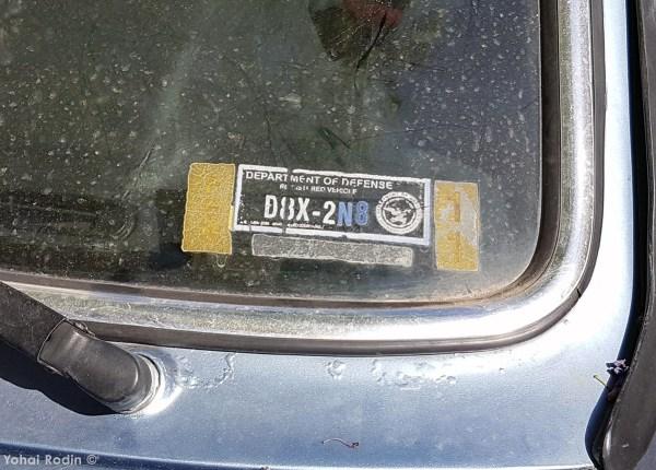 Dep. of defence sticker on BMW 630 CSI