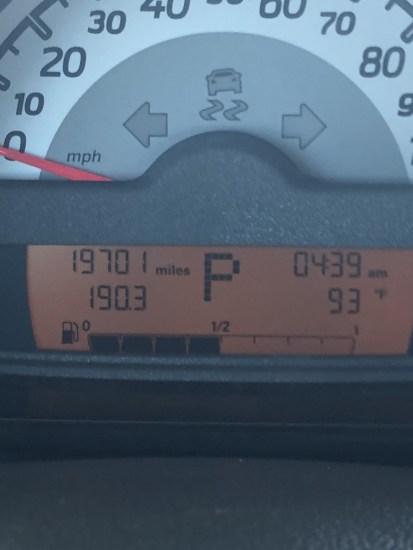 trip odometer in a smart car
