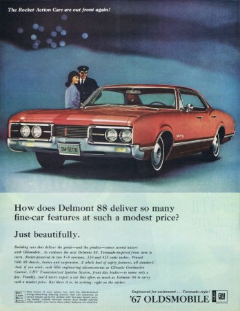 1967 Oldsmobile Delmont 88 sedan ad