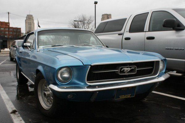 1967 Ford Mustang notchback. Battle Creek, Michigan. 1-18-2015.