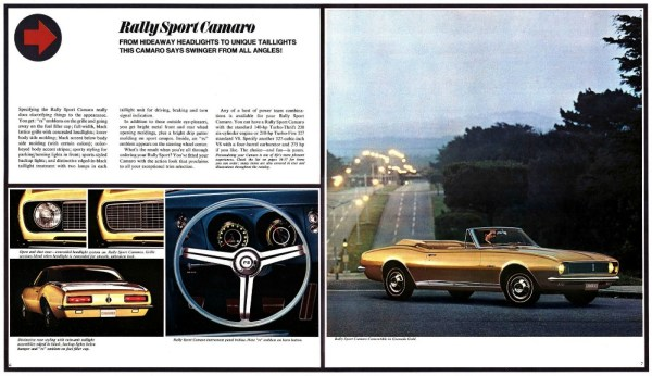 1967 Chevrolet Camaro brochure pages, as sourced from www.oldcarbrochures.com.