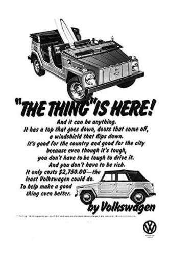 1973 VW Thing print ad.