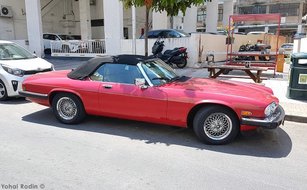 Red Jaguar XJS V12 Convertible