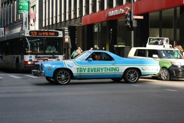 1976 Chevrolet El Camino. Tuesday, 7/19/2011. Downtown Chicago, Illinois.