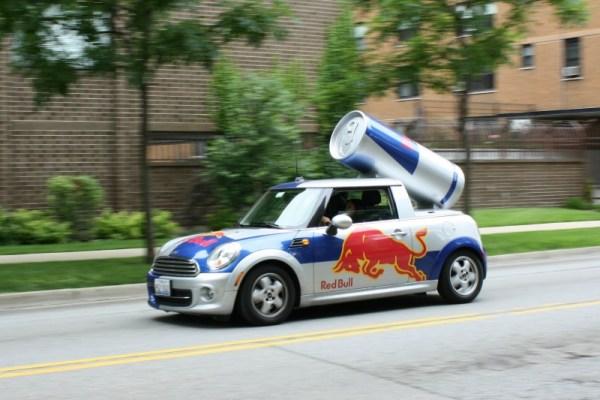 Red Bull Mini Cooper. Edgewater, Chicago, Illinois. Saturday, 7/27/2013.