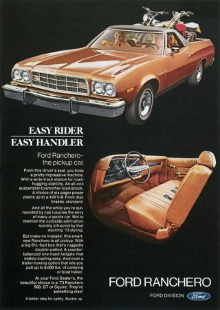 1973 Ford Ranchero ad