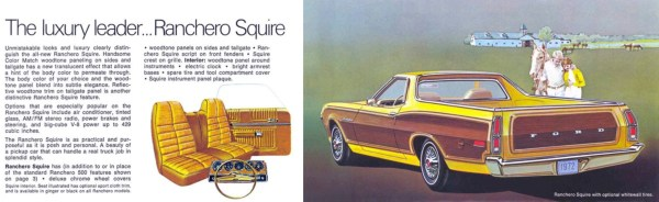 1972 Ford Ranchero Squire brochure